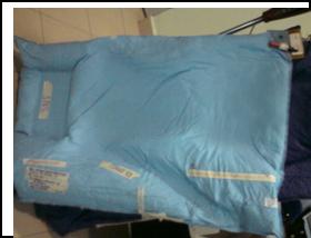 Kusyen Vac-Lok selepas dikeluarkan angin