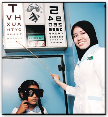 Parents also can bring their children to hospital or Optometry Clinic nearby to get a vision screening2
