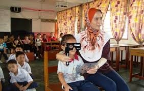 Teachers also can help the School Health Team in vision screening at school