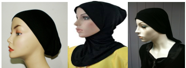 There are various types of bonnet or under -scarf