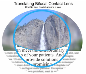 translating bifocal contact lens