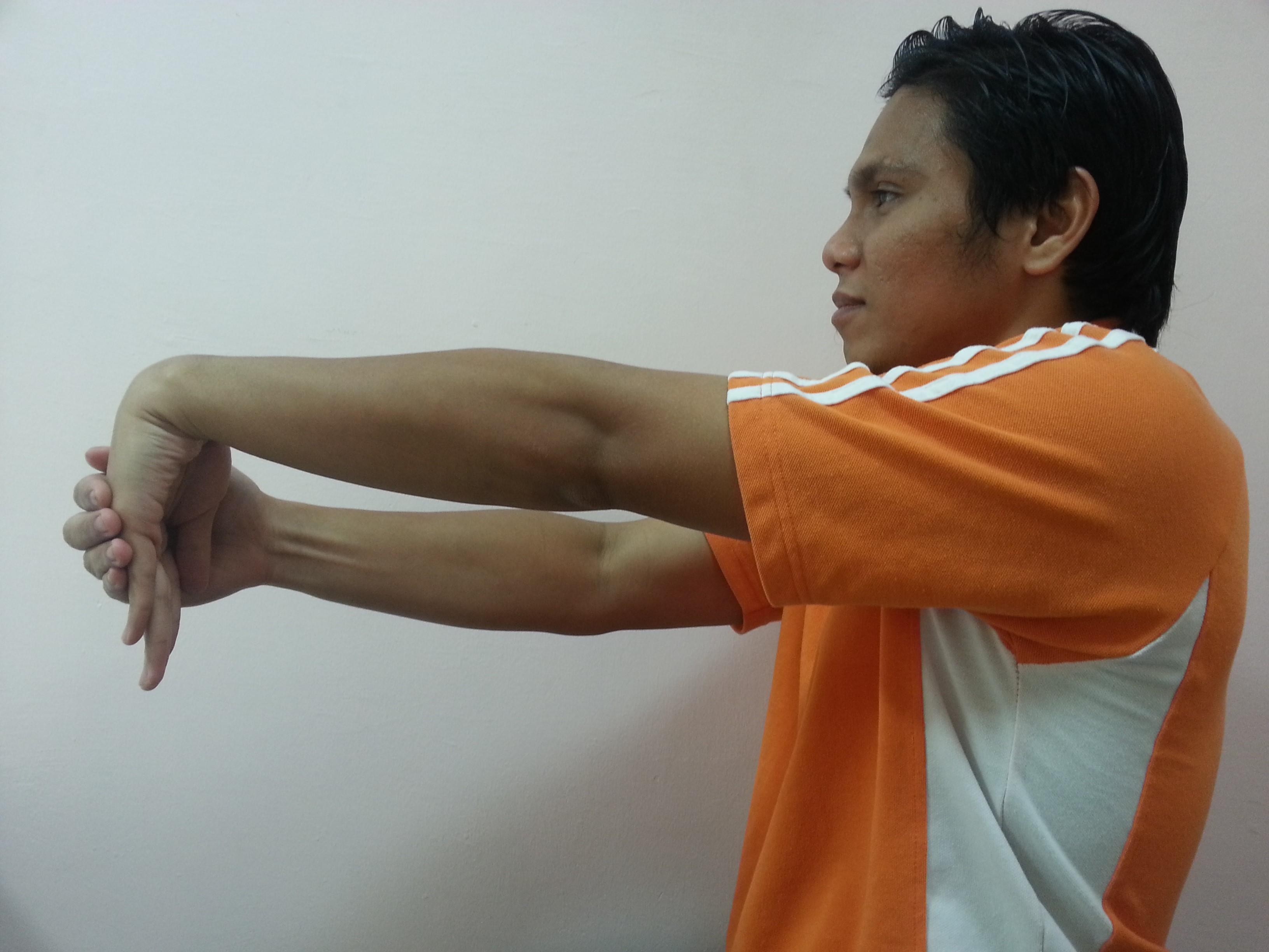 wrist bend downward